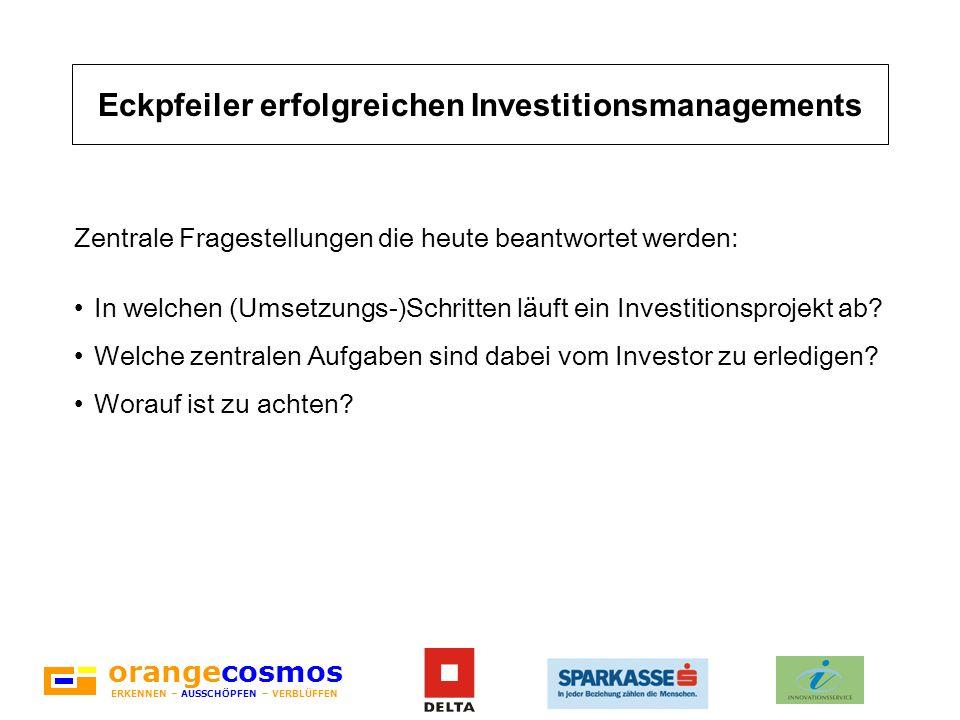 Eckpfeiler erfolgreichen Investitionsmanagements