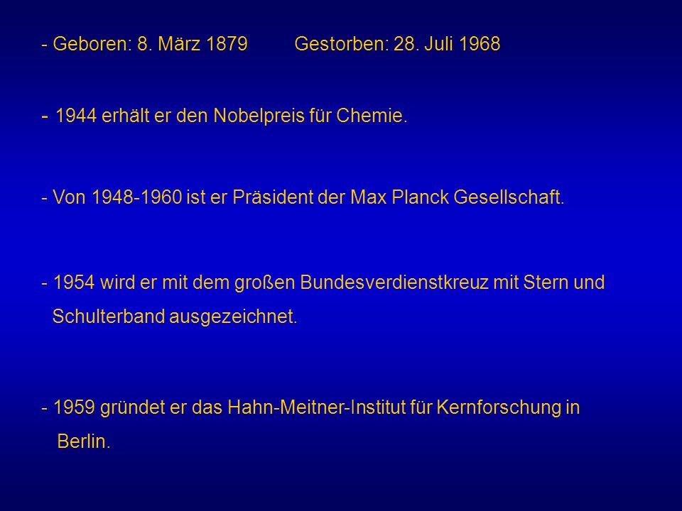 - 1944 erhält er den Nobelpreis für Chemie.