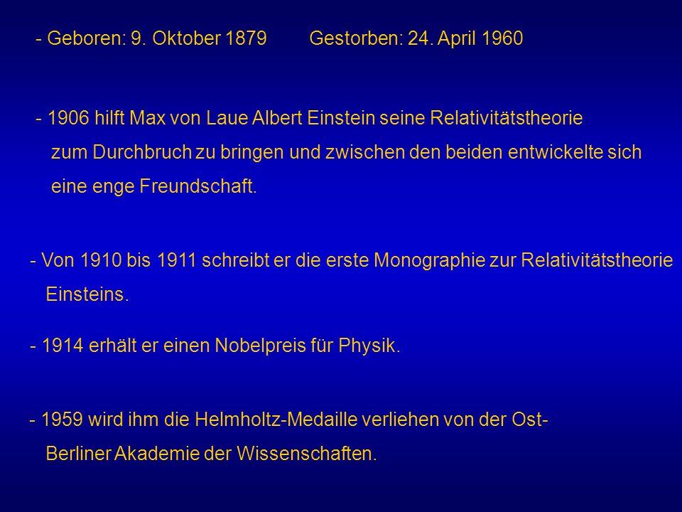 - Geboren: 9. Oktober 1879 Gestorben: 24. April 1960
