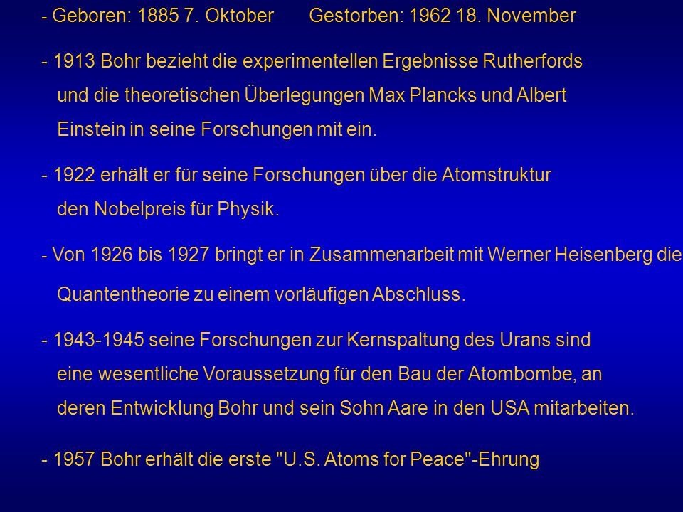 - Geboren: 1885 7. Oktober Gestorben: 1962 18. November