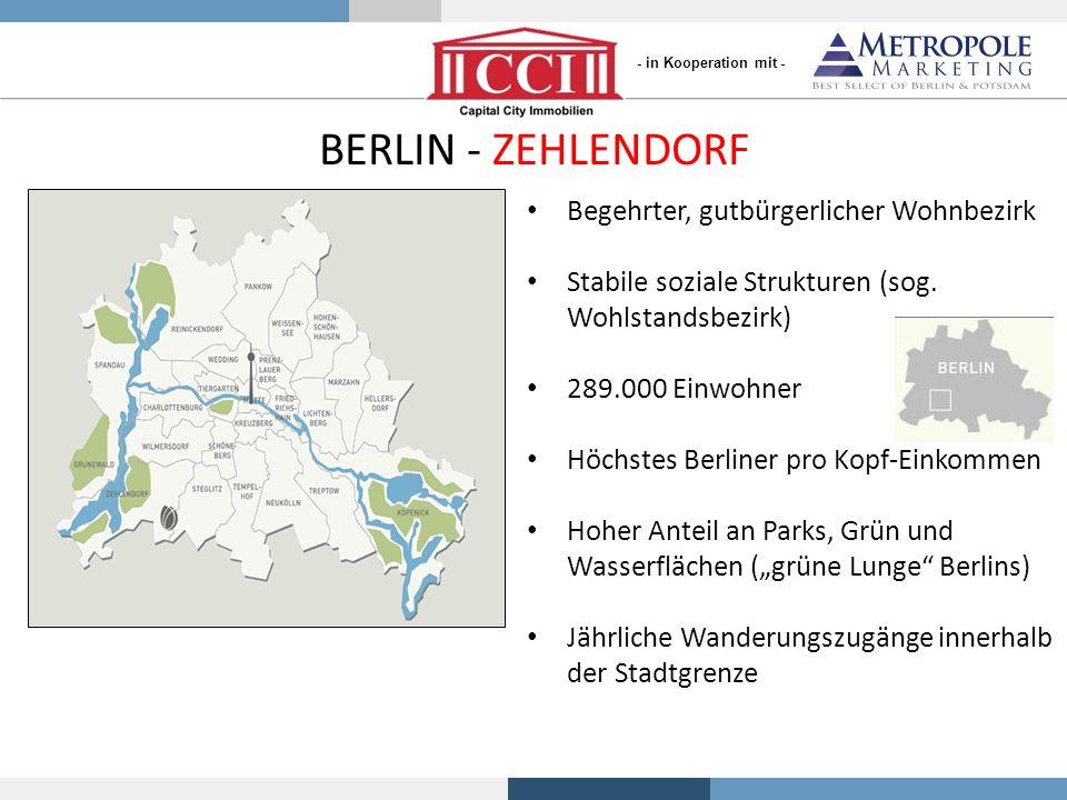 BERLIN - ZEHLENDORF Begehrter, gutbürgerlicher Wohnbezirk