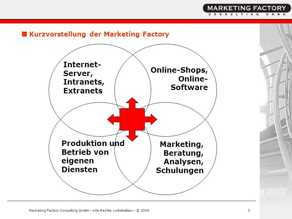 Marketing Factory Consulting GmbH – Alle Rechte vorbehalten – © 2004