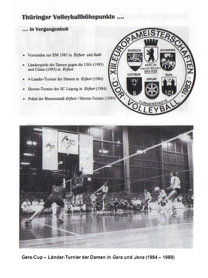 Gera-Cup – Länder-Turnier der Damen in Gera und Jena (1984 – 1989)