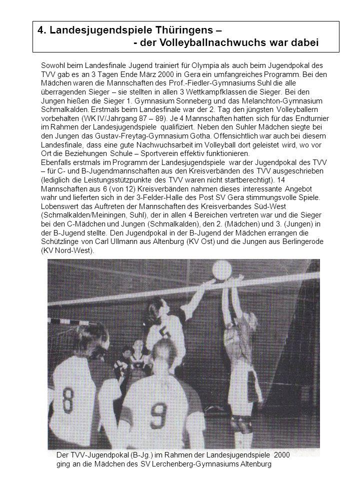 4. Landesjugendspiele Thüringens – - der Volleyballnachwuchs war dabei