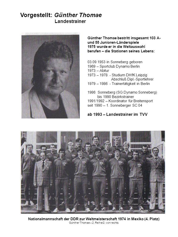 Vorgestellt: Günther Thomae Landestrainer
