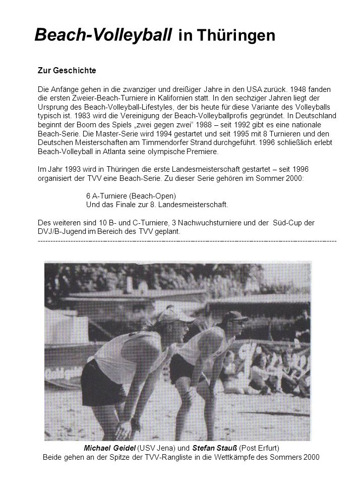 Beach-Volleyball in Thüringen