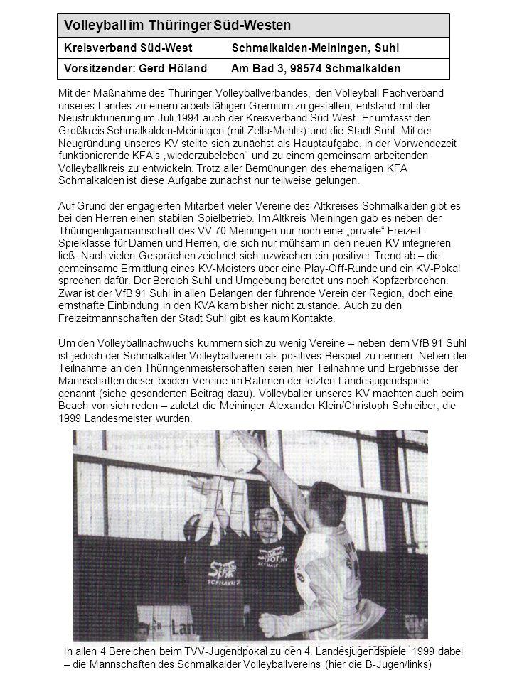 Volleyball im Thüringer Süd-Westen