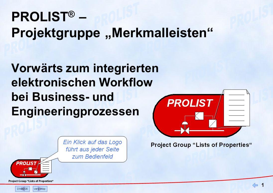 """PROLIST® – Projektgruppe """"Merkmalleisten"""