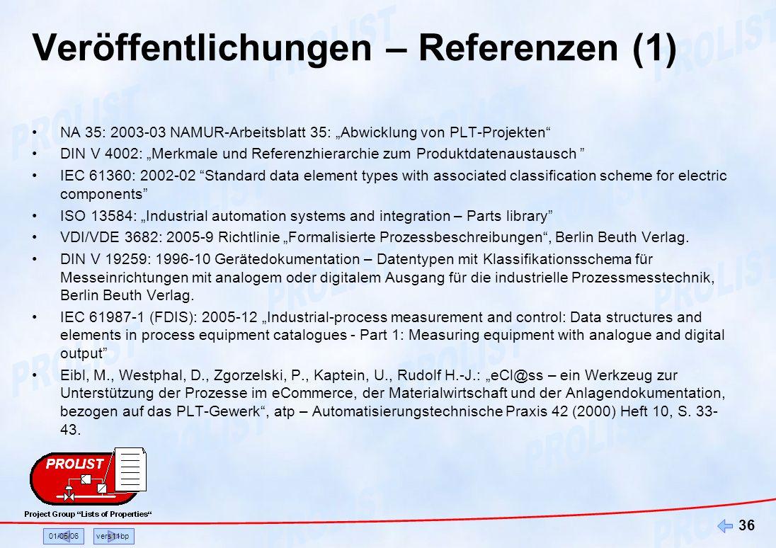 Veröffentlichungen – Referenzen (1)