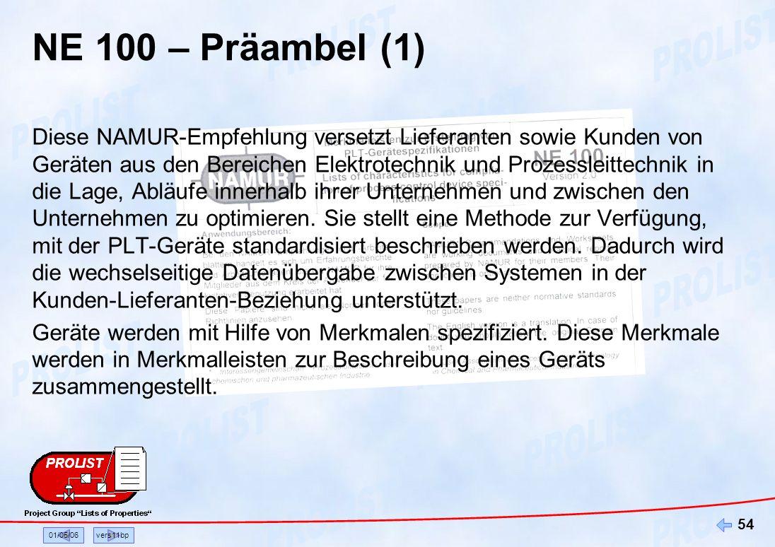 NE 100 – Präambel (1)