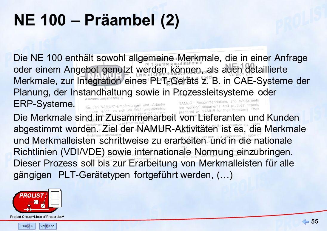 NE 100 – Präambel (2)