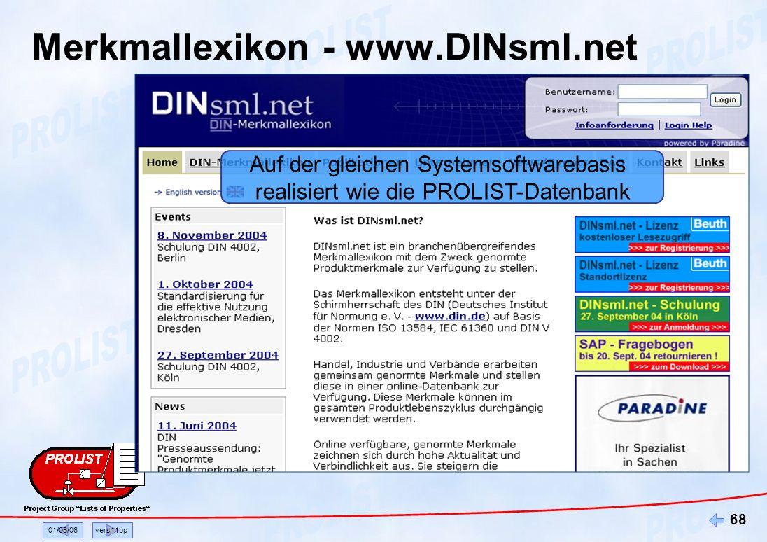Merkmallexikon - www.DINsml.net