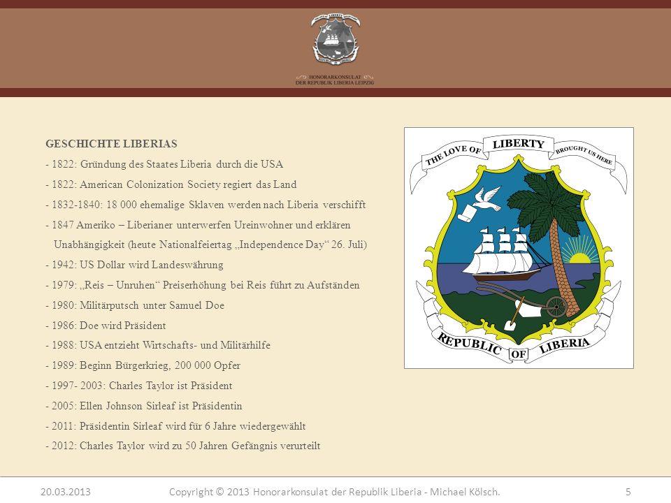 GESCHICHTE LIBERIAS - 1822: Gründung des Staates Liberia durch die USA. 1822: American Colonization Society regiert das Land.