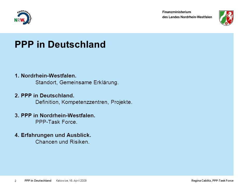 PPP in Deutschland 1. Nordrhein-Westfalen