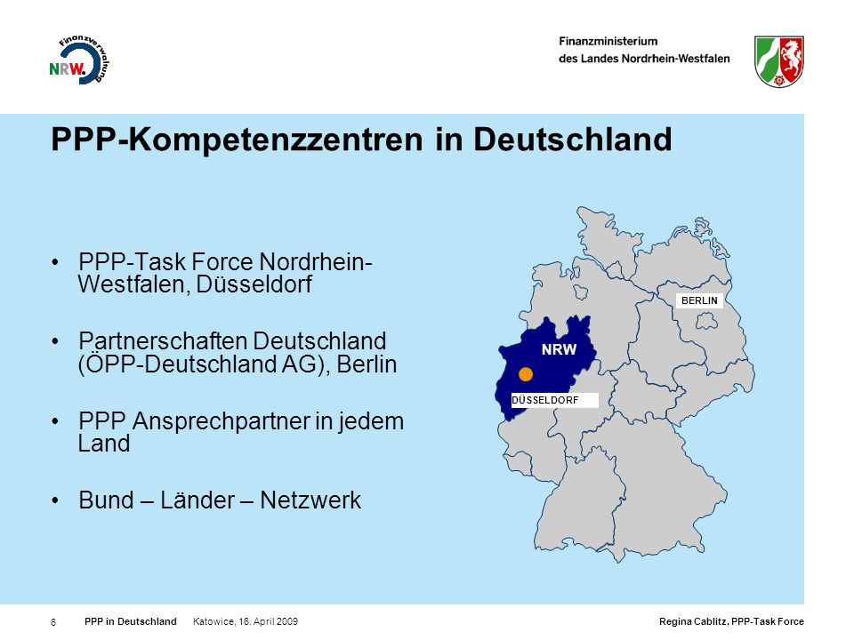 PPP-Kompetenzzentren in Deutschland