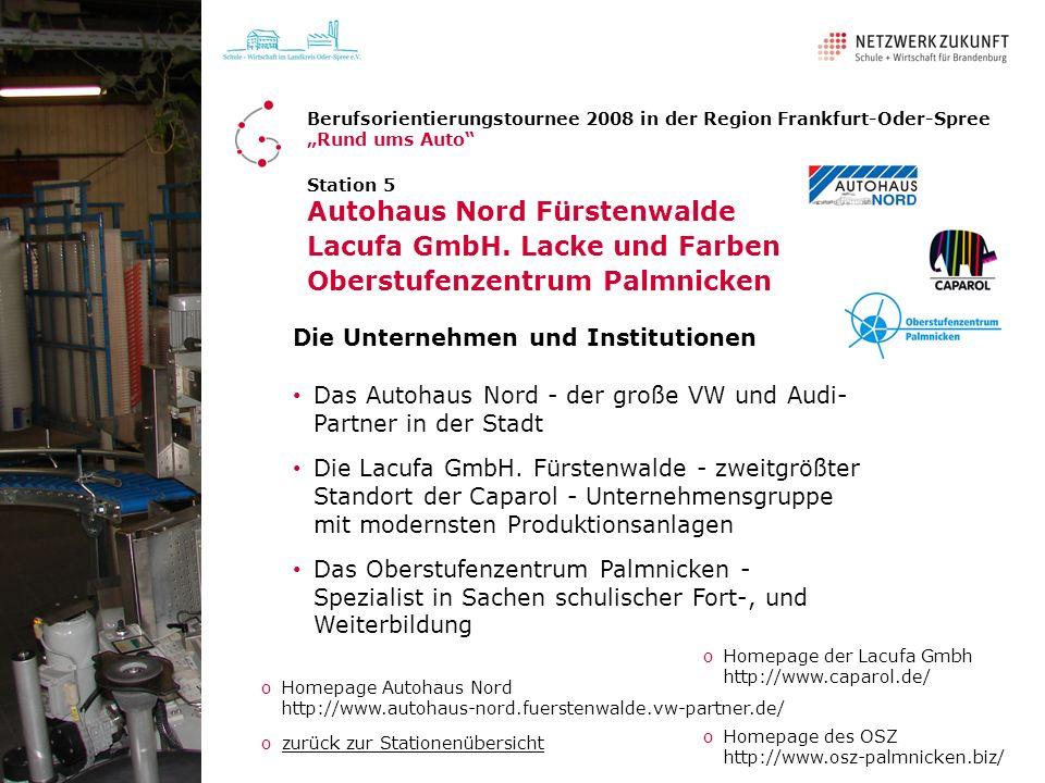 Autohaus Nord Fürstenwalde Lacufa GmbH. Lacke und Farben