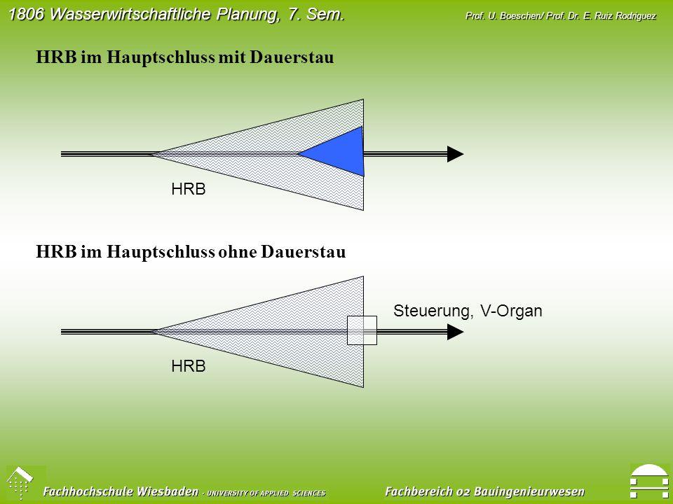 HRB im Hauptschluss mit Dauerstau