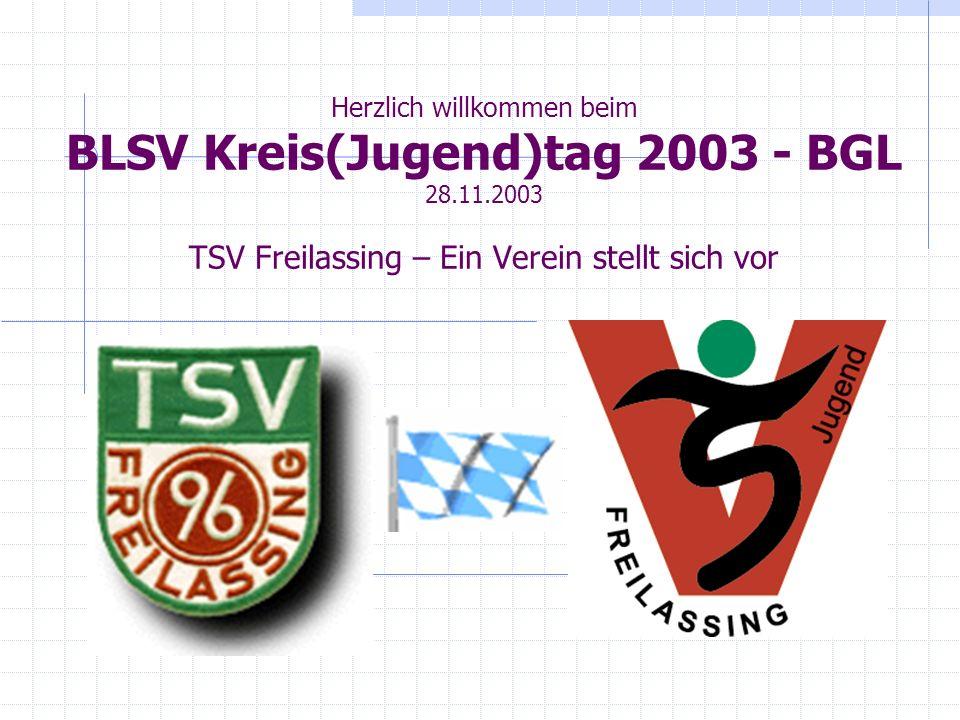 Herzlich willkommen beim BLSV Kreis(Jugend)tag 2003 - BGL 28. 11