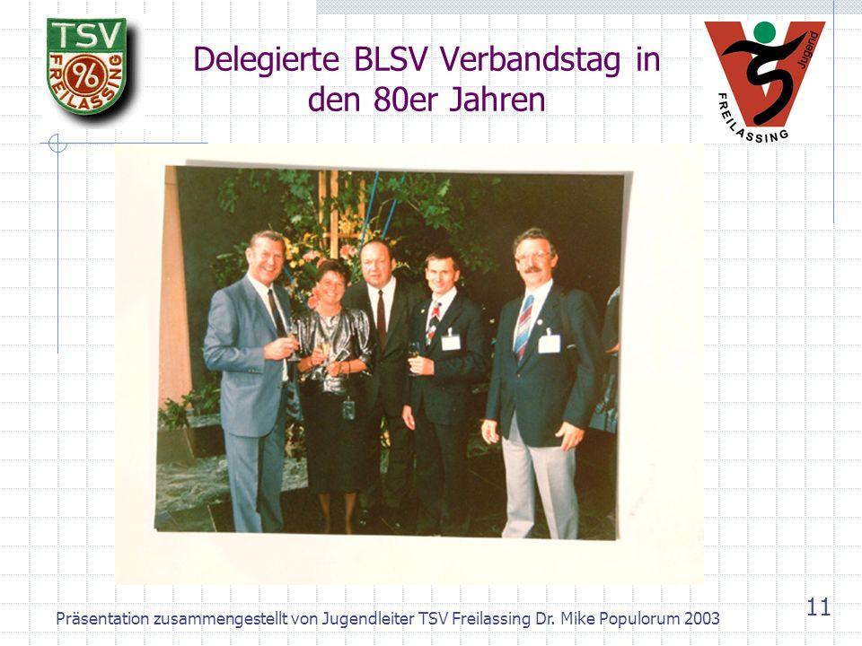 Delegierte BLSV Verbandstag in den 80er Jahren