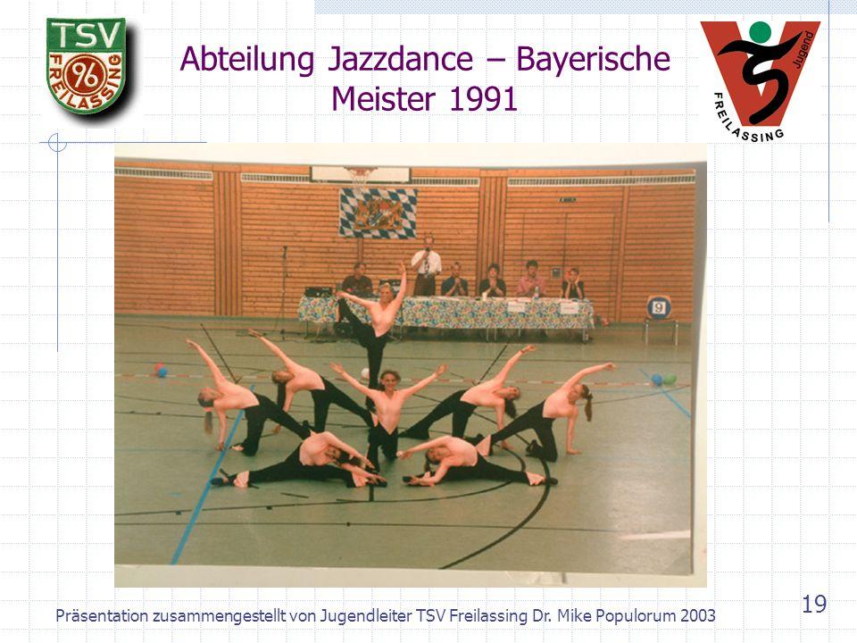 Abteilung Jazzdance – Bayerische Meister 1991