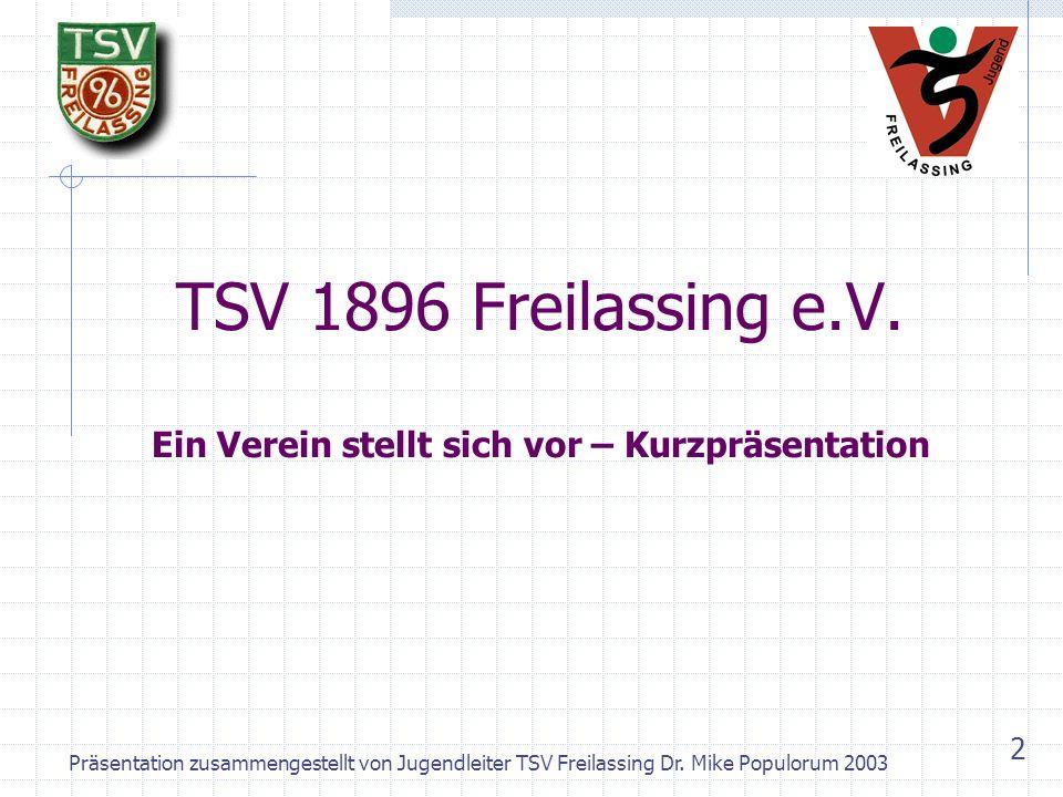 TSV 1896 Freilassing e.V. Ein Verein stellt sich vor – Kurzpräsentation