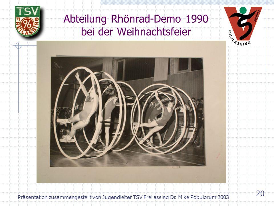 Abteilung Rhönrad-Demo 1990 bei der Weihnachtsfeier