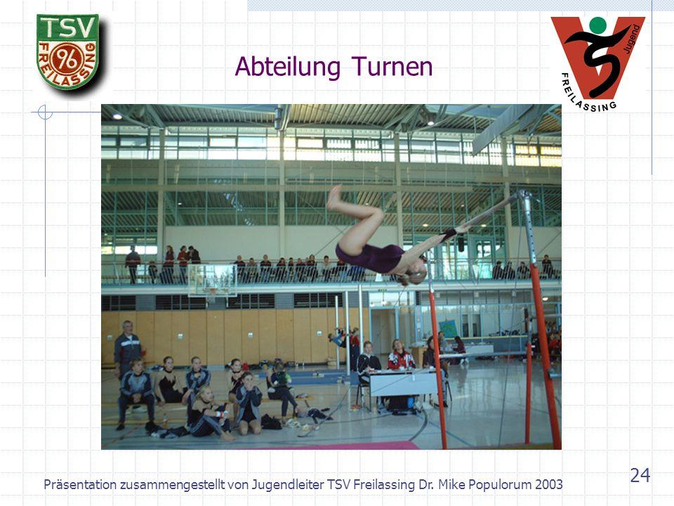 Abteilung Turnen Präsentation zusammengestellt von Jugendleiter TSV Freilassing Dr.