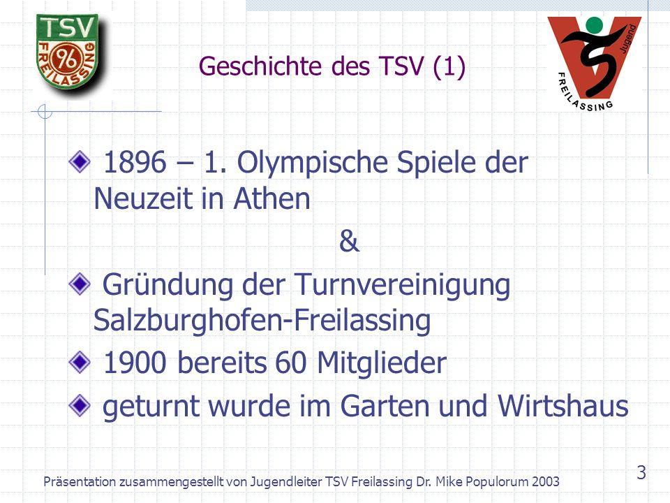 1896 – 1. Olympische Spiele der Neuzeit in Athen &