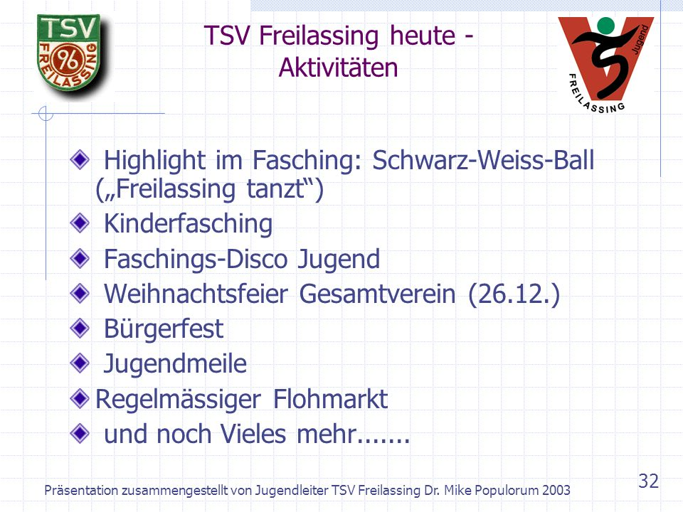 TSV Freilassing heute - Aktivitäten