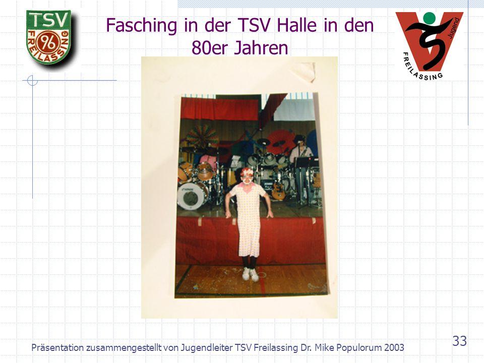 Fasching in der TSV Halle in den 80er Jahren