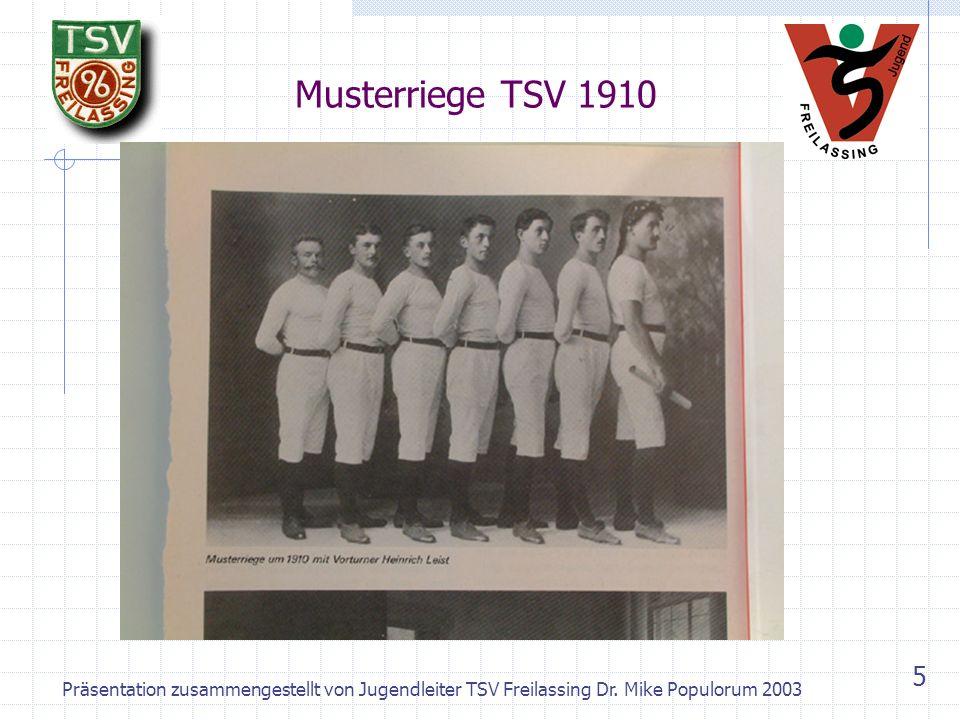 Musterriege TSV 1910 Präsentation zusammengestellt von Jugendleiter TSV Freilassing Dr.