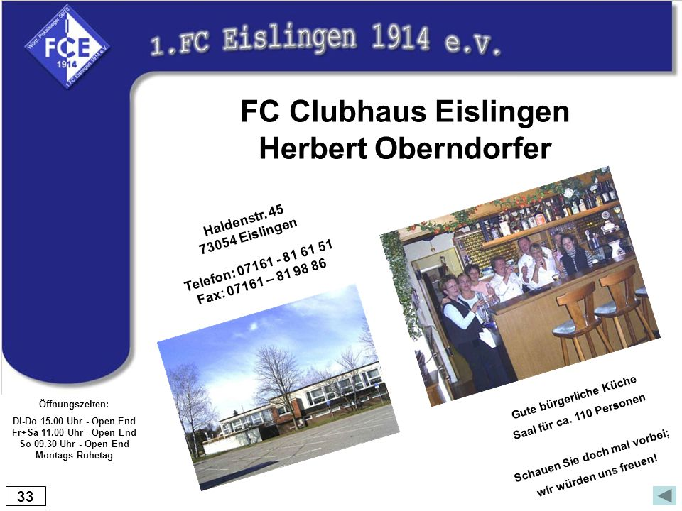 FC Clubhaus Eislingen Herbert Oberndorfer