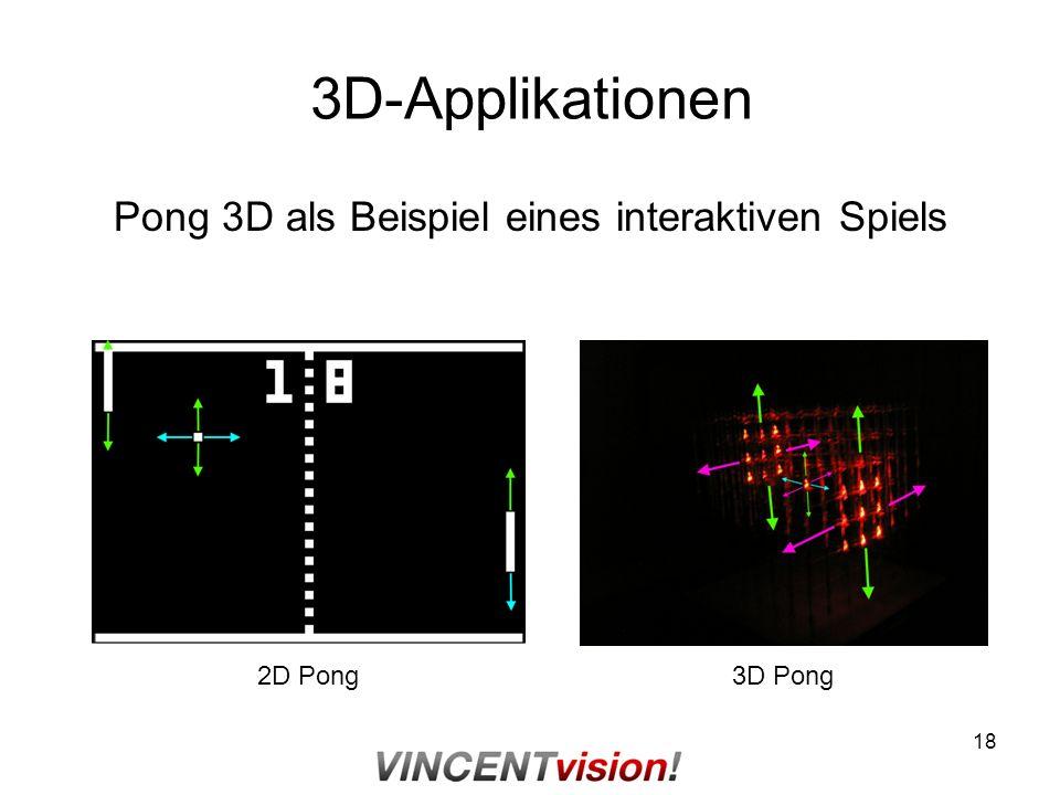 Pong 3D als Beispiel eines interaktiven Spiels