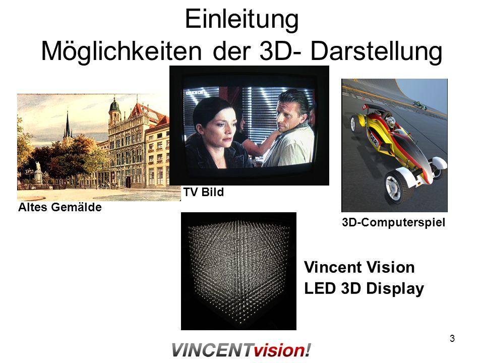 Einleitung Möglichkeiten der 3D- Darstellung
