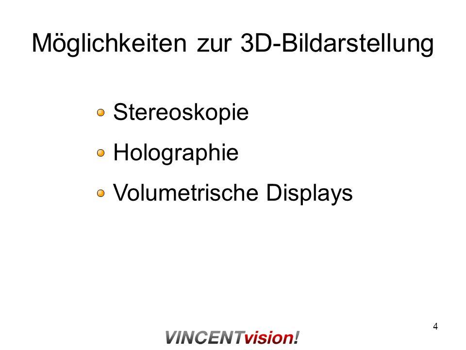 Möglichkeiten zur 3D-Bildarstellung