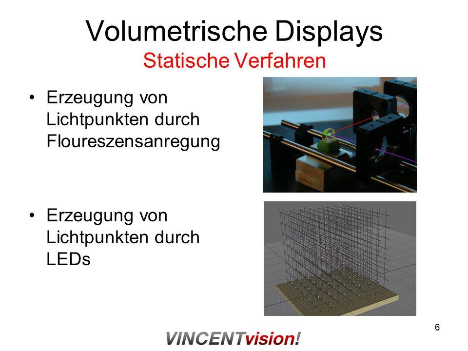 Volumetrische Displays Statische Verfahren