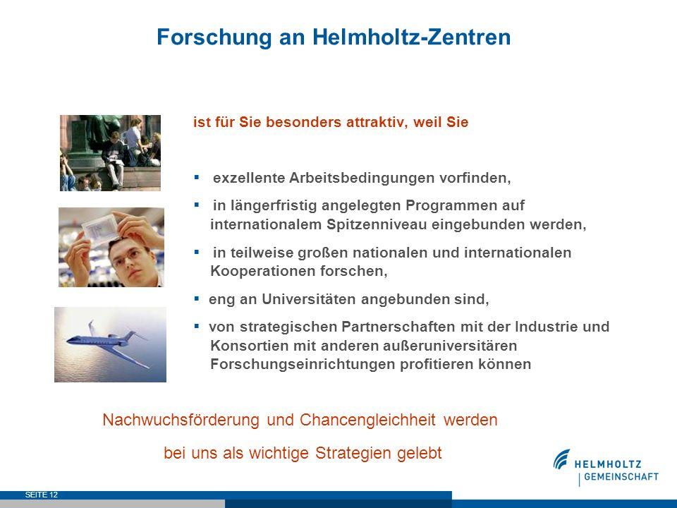 Forschung an Helmholtz-Zentren