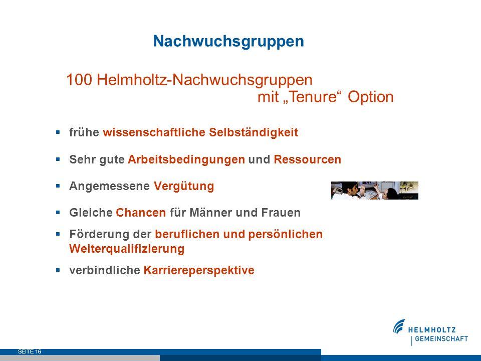 """100 Helmholtz-Nachwuchsgruppen mit """"Tenure Option"""