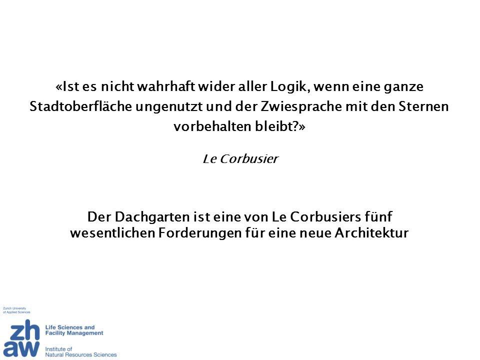 Der Dachgarten ist eine von Le Corbusiers fünf