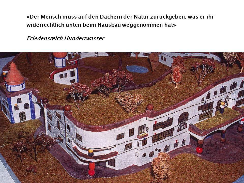 «Der Mensch muss auf den Dächern der Natur zurückgeben, was er ihr widerrechtlich unten beim Hausbau weggenommen hat»