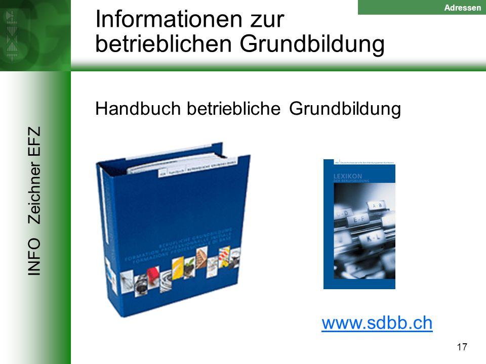 Informationen zur betrieblichen Grundbildung