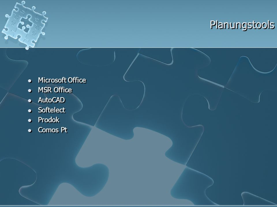 Planungstools Microsoft Office MSR Office AutoCAD Softelect Prodok