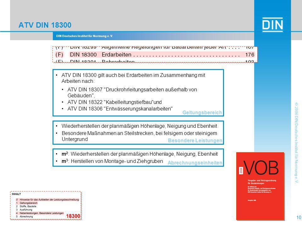 ATV DIN 18300 Geltungsbereich. ATV DIN 18300 gilt auch bei Erdarbeiten im Zusammenhang mit Arbeiten nach: