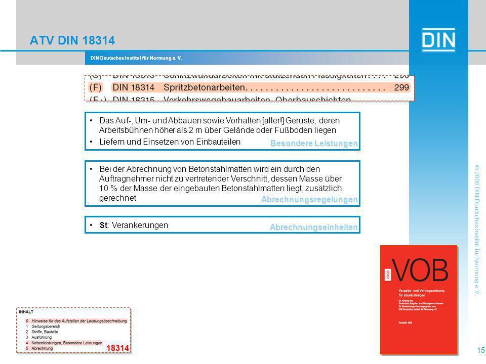 ATV DIN 18314 Besondere Leistungen.