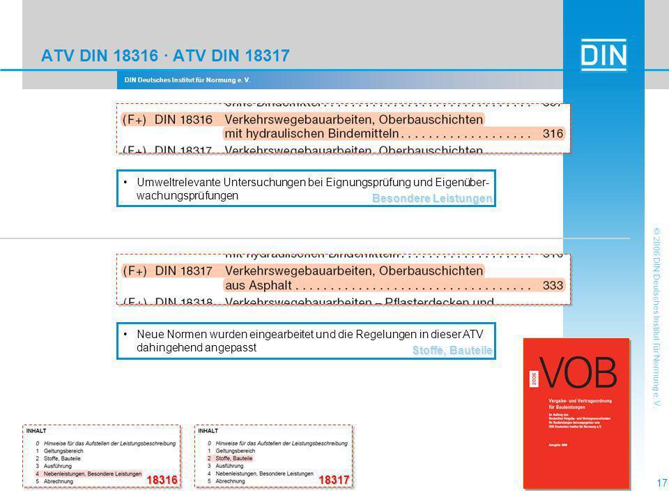 ATV DIN 18316 · ATV DIN 18317 Besondere Leistungen