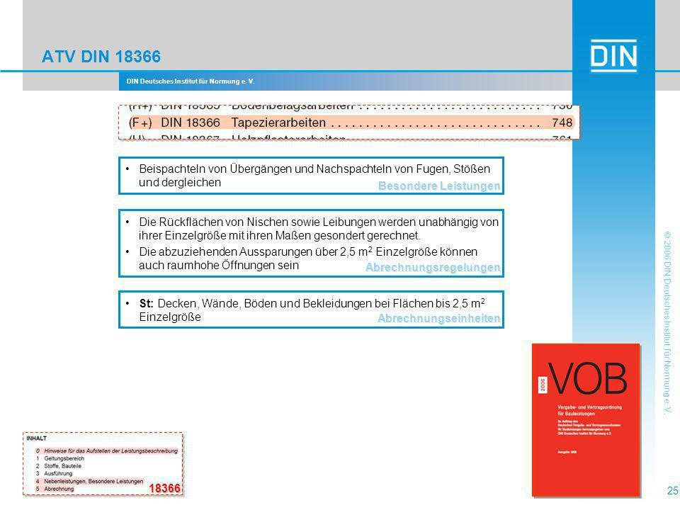 ATV DIN 18366 Besondere Leistungen. Beispachteln von Übergängen und Nachspachteln von Fugen, Stößen und dergleichen.