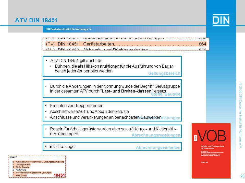 ATV DIN 18451 ATV DIN 18451 gilt auch für:
