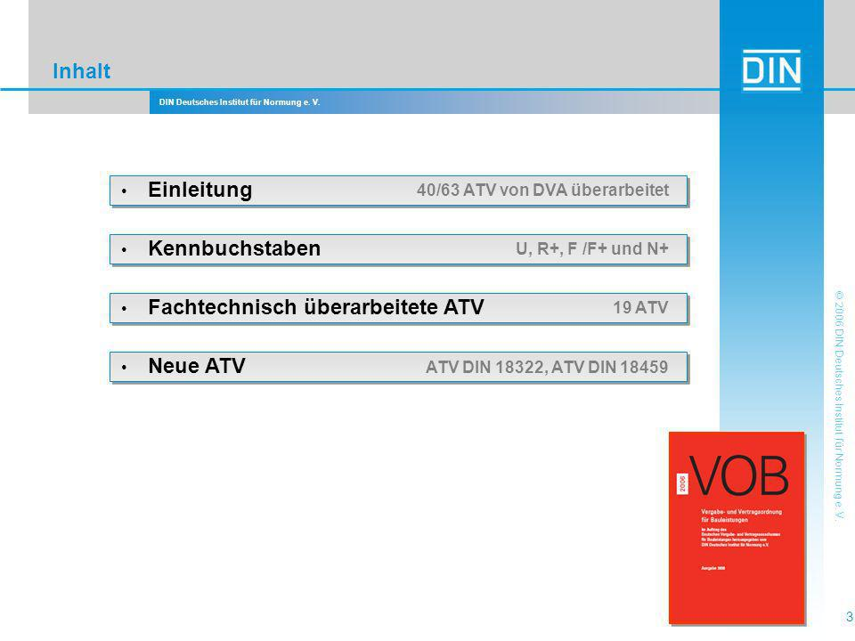 Inhalt • Einleitung 40/63 ATV von DVA überarbeitet • Kennbuchstaben