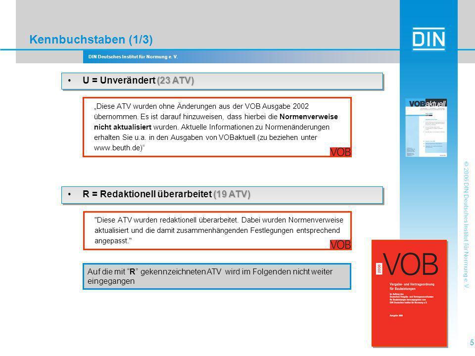 Kennbuchstaben (1/3) • U = Unverändert (23 ATV)