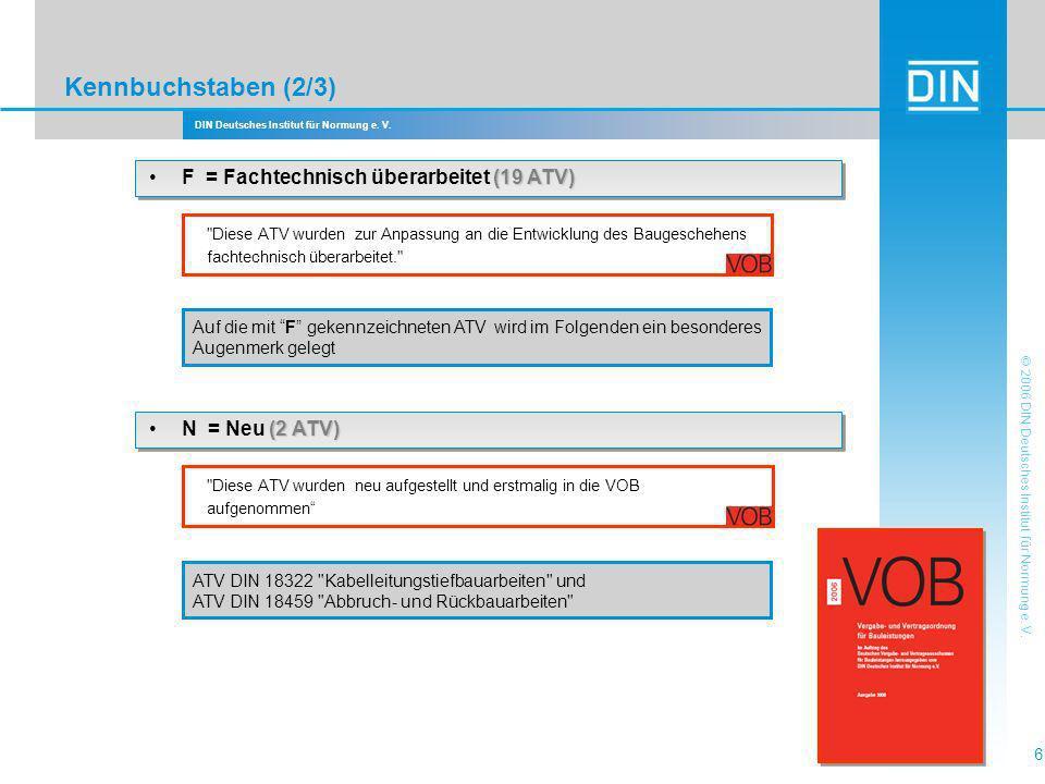 Kennbuchstaben (2/3) • F = Fachtechnisch überarbeitet (19 ATV)
